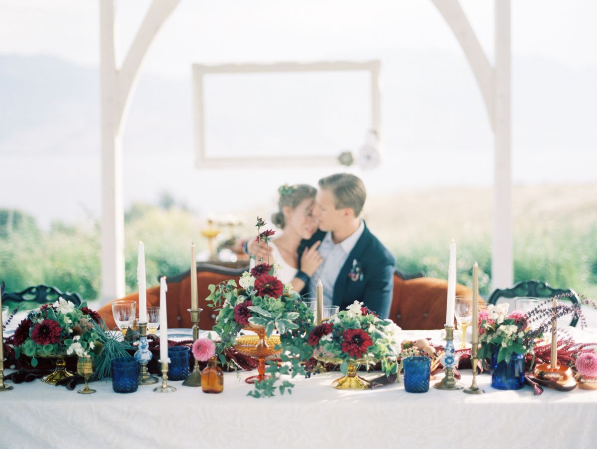 Adore Magazine Shoot At Sanctuary Gardens Kelowna Wedding Decorating By Vintage Origami