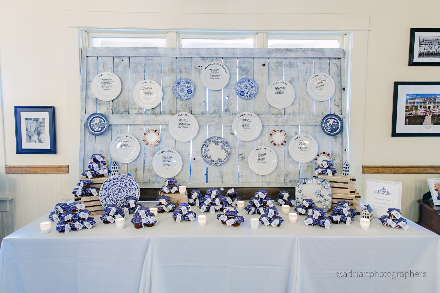Heirloom Delft Plate Inspired Wedding at the Eldorado Sunroom