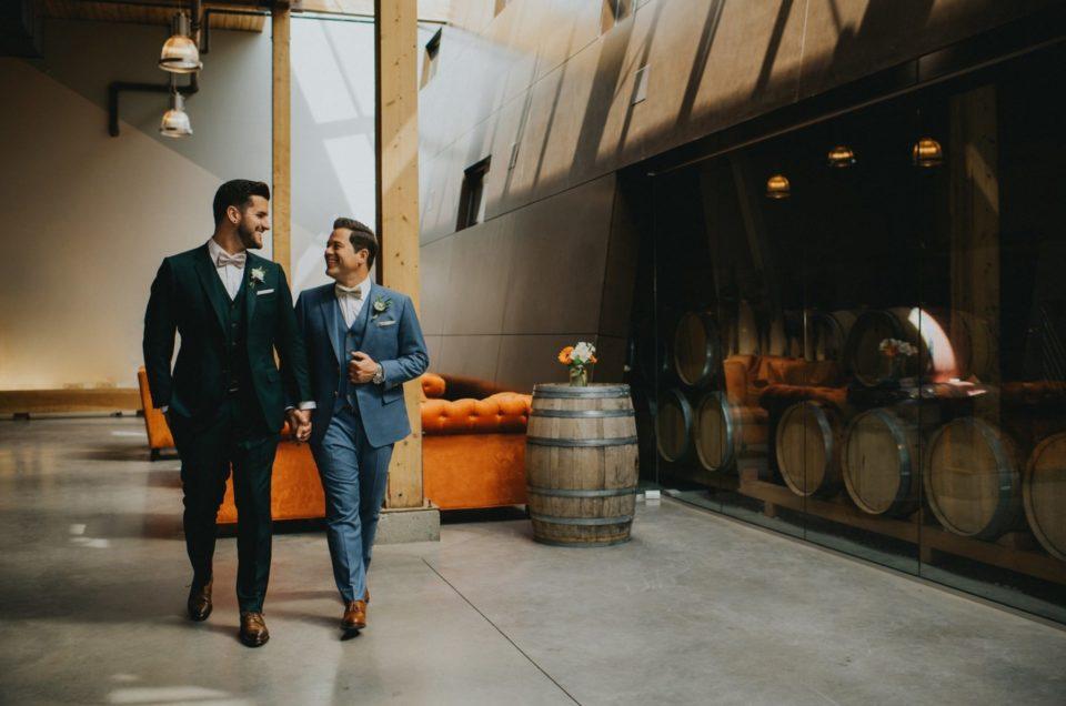 Lance & Scott's Geometric Wedding at Hotel Eldorado