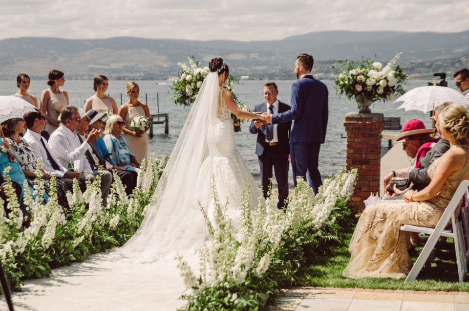 Lakefront Backyard Ceremony